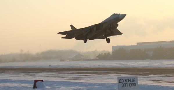 俄罗斯五代机T50飞机起飞图
