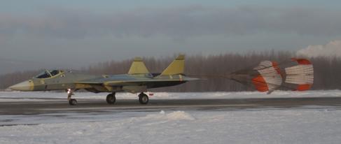 俄罗斯五代机T50飞机降落图